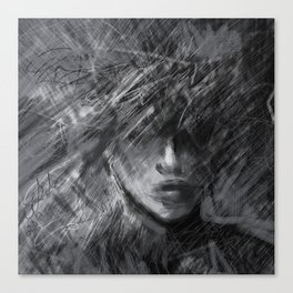 Anxiety in Black and White Canvas Print