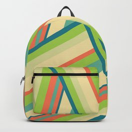 Lime Green Pattern Backpack
