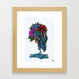 Henna design 12 (Crying Flowers) Framed Art Print