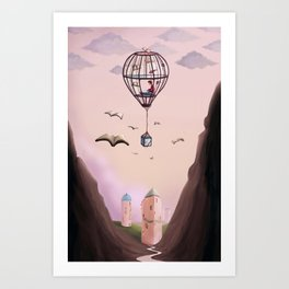 A Very Bookish Adventure Art Print