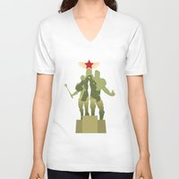 pacific rim V-neck T-shirts featuring Pacific Rim: Cherno Alpha and Pilots by MNM Studios