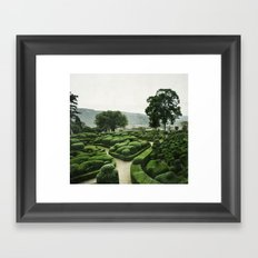 Green Dédale Framed Art Print