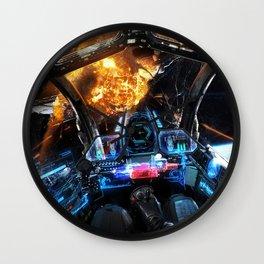 sci-fi spacecraft dashboard pilot outer space Wall Clock