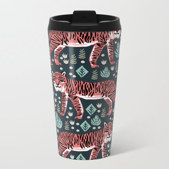 Safari Tiger by Andrea Lauren  Metal Travel Mug