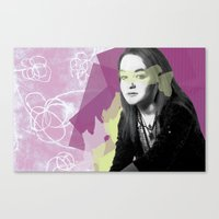 leah flores Canvas Prints featuring Leah by Birdy Cooper