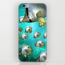 Wonderful butterflyfish  iPhone Skin