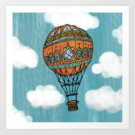 Hot Air Ballon in the Sky Art Print