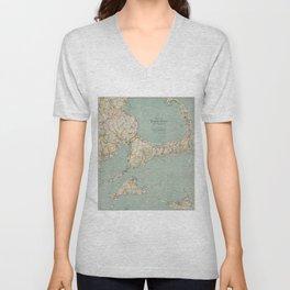 Vintage Map of Cape Cod (1917) Unisex V-Neck