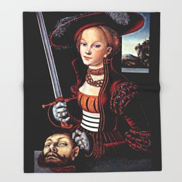 Judith with the Head of Holofernes Throw Blanket