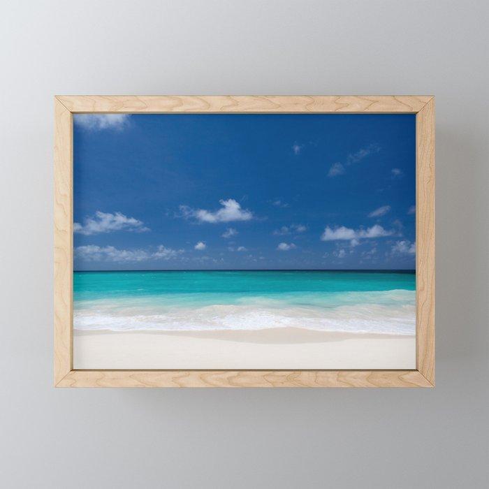 Coaster Peaceful Blue Beach Acrylic Painting on Wood