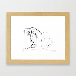 Ballet Dance Drawing Framed Art Print