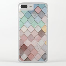 Pastel Tiles Clear iPhone Case