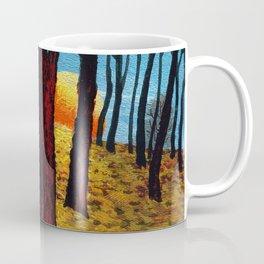Trunks trees in sunrise Coffee Mug
