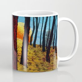 Trunks trees in sunrise Coffee Mug