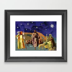 The Christmas Story Shepherds Framed Art Print