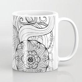outline zen floral pattern 2 Coffee Mug