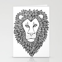 leo Stationery Cards featuring Leo by Julie Erin Designs