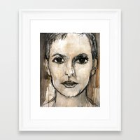 no face Framed Art Prints featuring face by woman