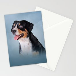 Drawing Entlebucher Mountain Dog Stationery Cards