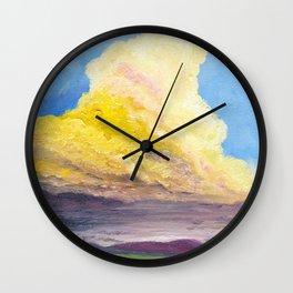 Cloudy Dreams Wall Clock