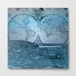adventure landscape world map Metal Print