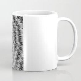 Dizzy Cat Abstract in Monochrome Coffee Mug