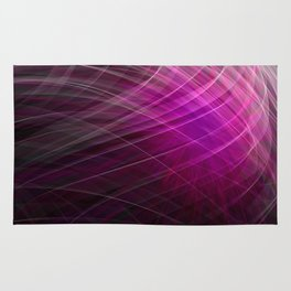 Linear Pattern-Purple Rug