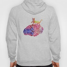 Cat and brain Hoody