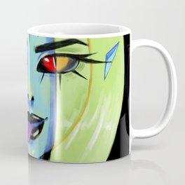 Blue Rocker girl monster Coffee Mug