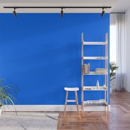 Unfinished ~ Bright Blue Wall Mural