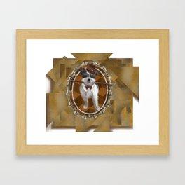 Steam Terrier Framed Art Print
