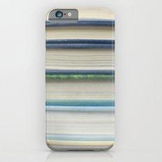 Book stripes - blue iPhone 6s Slim Case