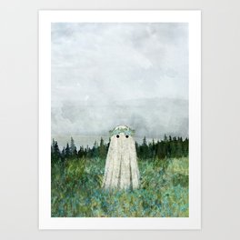 Forget me not meadow Art Print