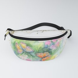 Butterflyes & Love quote Fanny Pack