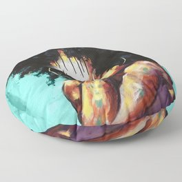 Naturally II TEAL Floor Pillow
