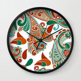 Paisly Print Wall Clock