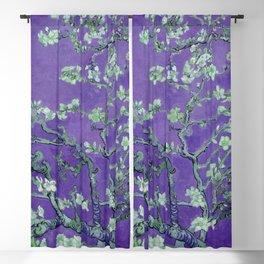 "Vincent van Gogh ""Almond Blossoms"" (edited purple) Blackout Curtain"