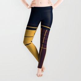 Abstract graphic I Dark blue Purple Yellow Leggings