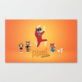 WB Pixel Nostalgia Canvas Print