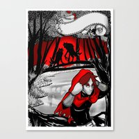 red hood Canvas Prints featuring Red hood by REN'SsillyFANTASY