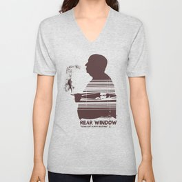 Rear Window Hitchcock silhouette art Unisex V-Neck