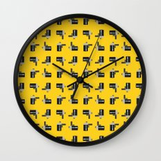 camera 04 pattern Wall Clock