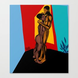 2021 Powerful Colorful Nubian Passion by Marcellous Lovelace Canvas Print