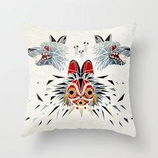 mononoke princess Throw Pillow