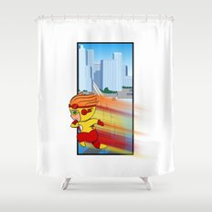 Kid Flash of Central City Shower Curtain