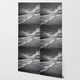 Desert Beach Black and White Wallpaper
