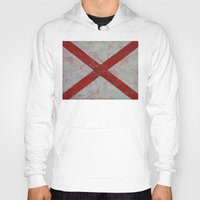 alabama Hoodies featuring Alabama by Michael Creese