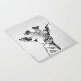 Baby Giraffe - Black & White Notebook