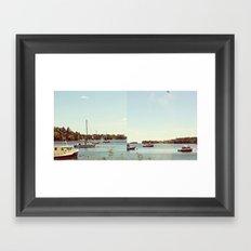 Boats and Buoys  Framed Art Print