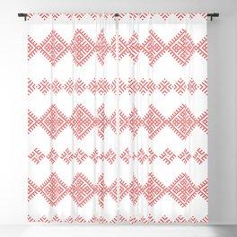 Pattern - Family Unit - Slavic symbol Blackout Curtain